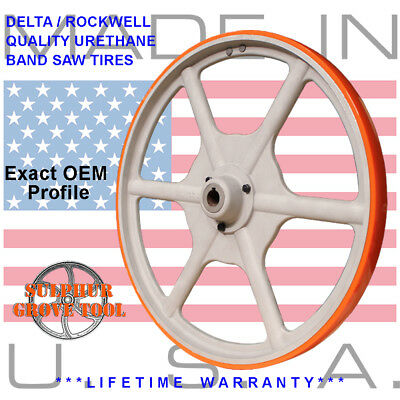 2 BLUE MAX SUPER DUTY URETHANE BAND SAW TIRE SET FOR DELTA 28-365 BAND SAW