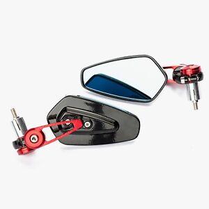 """Specchietti Retrovisore Laterali 22mm, 7-8"""" per Moto"""