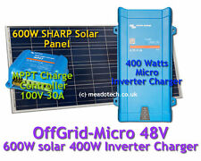 Victron Off Grid Micro System 48V DC to 500VA 230V 600W Solar FREE EU Delivery