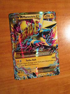 Pl-Mega-Pokemon-M-Manectric-Ex-Carte-Fantome-Forces-Set-120-119-Ultra-Rare-Joue