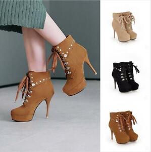 Women Platform Ankle Boots Plus Size