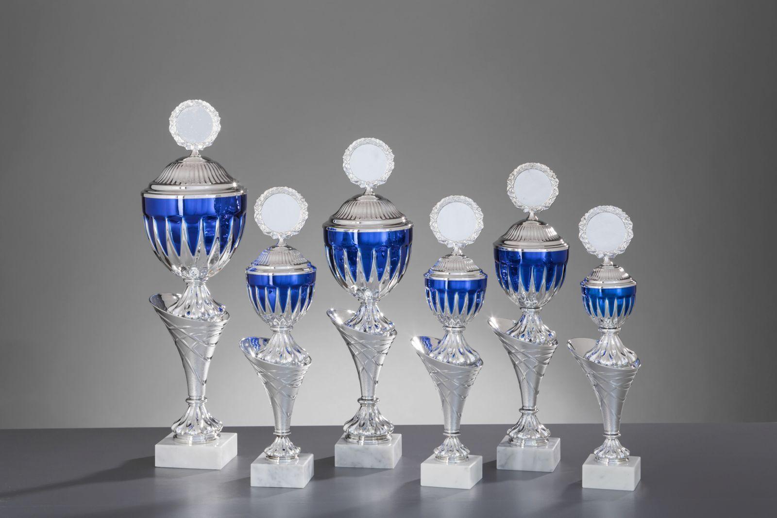 Pokale 6er Serie Jaqueline silber silber silber blau 35,4cm - 48,3cm ff5f99