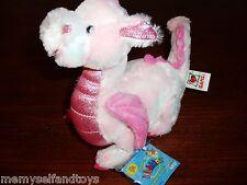 Webkinz Pink Whimsy Dragon Full Size Unused Code Plush Stuffed Animal Ganz 3+