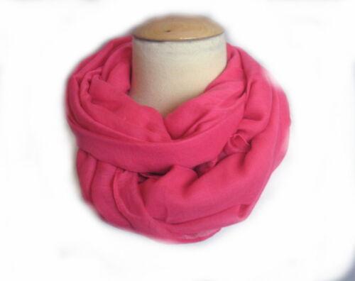 Leichter Schal Tuch 195x110 cm groß Pink