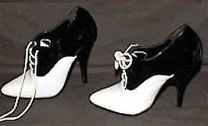 04c0cfd58cb Details about CUTE & SASSY BLACK & WHITE JANTE Patent  Oxfords/Shoes/Pumps-sz 5 NEW 4.5 Heel