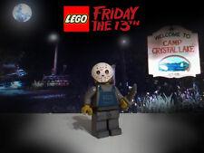 Custom Lego Jason Friday 13th Voorhees minifig w/ removable mask & slasher knife