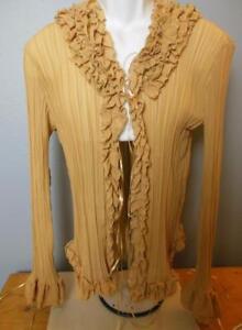 Angel Bows Tan Ruffles Xl Boho Pleated Pretty Tunic Beads dvwd1a