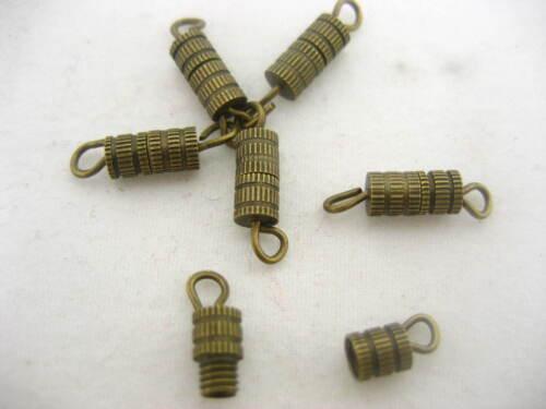 64pc Bronze Bracelet COLONNE Barrel Swivel Vis Fermoirs Collier Bracelet Finding