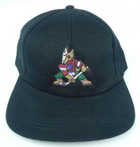 PHOENIX-COYOTES-NHL-VINTAGE-1990s-BLACK-SNAPBACK-THROWBACK-CAP-HAT-NWT-RARE