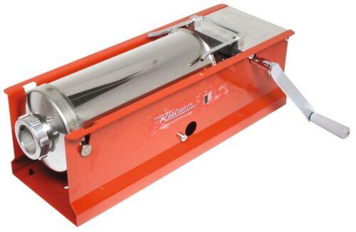 Insaccatrice Manuale Capacita/' 8Kg Rossa Insaccare Tubo in Acciaio Inox Salumi