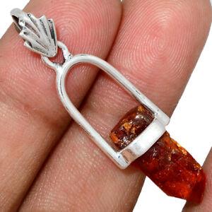 Orange-Kyanite-Point-925-Sterling-Silver-Pendant-Jewelry-AP121481