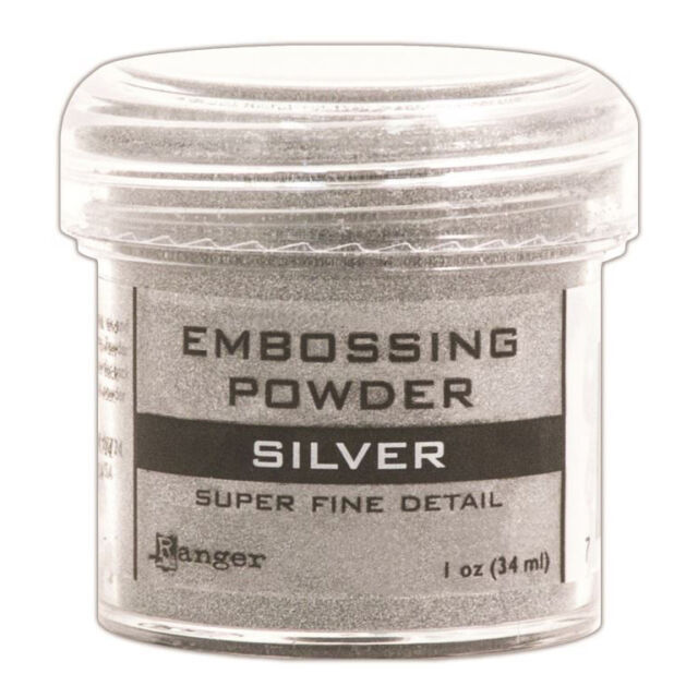 Ranger Embossing Powder 1oz Jar-Super Fine Silver