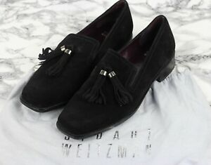 STUART WEITZMAN Black Suede Leather