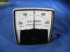 Ge General Electric Type Dw 91 200 0 200 Dc Volt Panel Meter 519x13