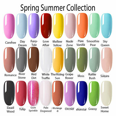 BORN PRETTY Spring Summer Collection UV Gel Nail Art Polish Colors ...