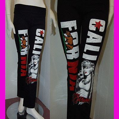 Marilyn Monroe w// California Republic Cali Bear Leggings Stretch Yoga Pants 2XL