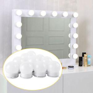 Hollywood 10 LEDs Spiegelleuchte Schminklicht Schminktisch USB Spiegellampe