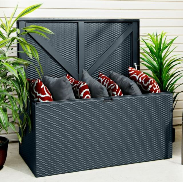 Gerätebox Linz steingrau 132x69x67cm ARROW Gartenbox