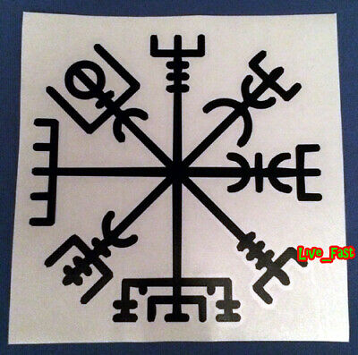 VEGVISIR NORSE VIKING COMPASS DECAL STICKER VINYL norse mythology asatru odinism