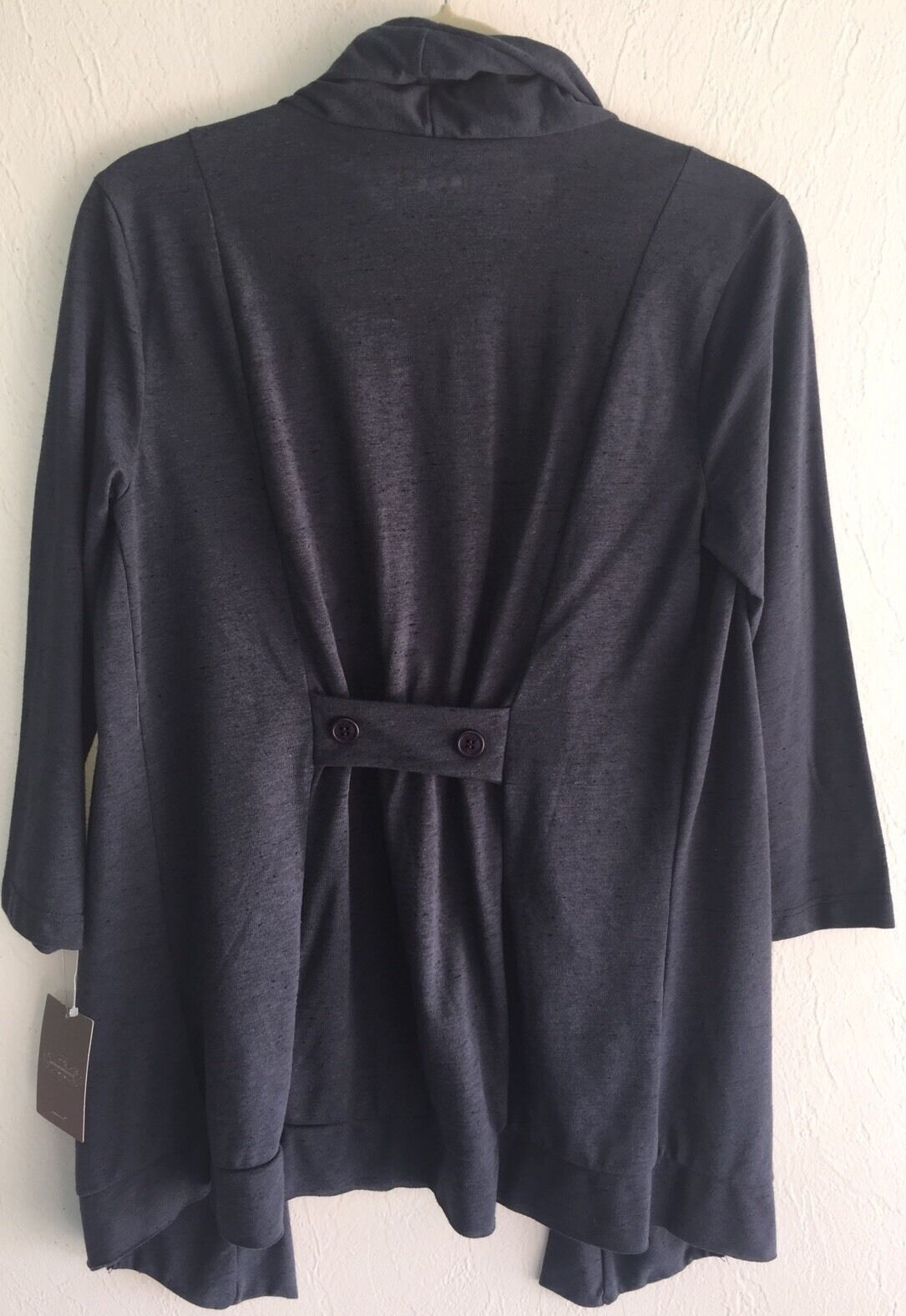 NEW Anthropologie Anthropologie Anthropologie Three Dots Buoyant Bunches Cardigan Topper Small S NWT Navy 6f2417