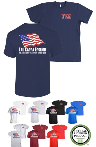 Tau Kappa Epsilon Fraternity Bella+Canvas American Flag USA TKE Shirt