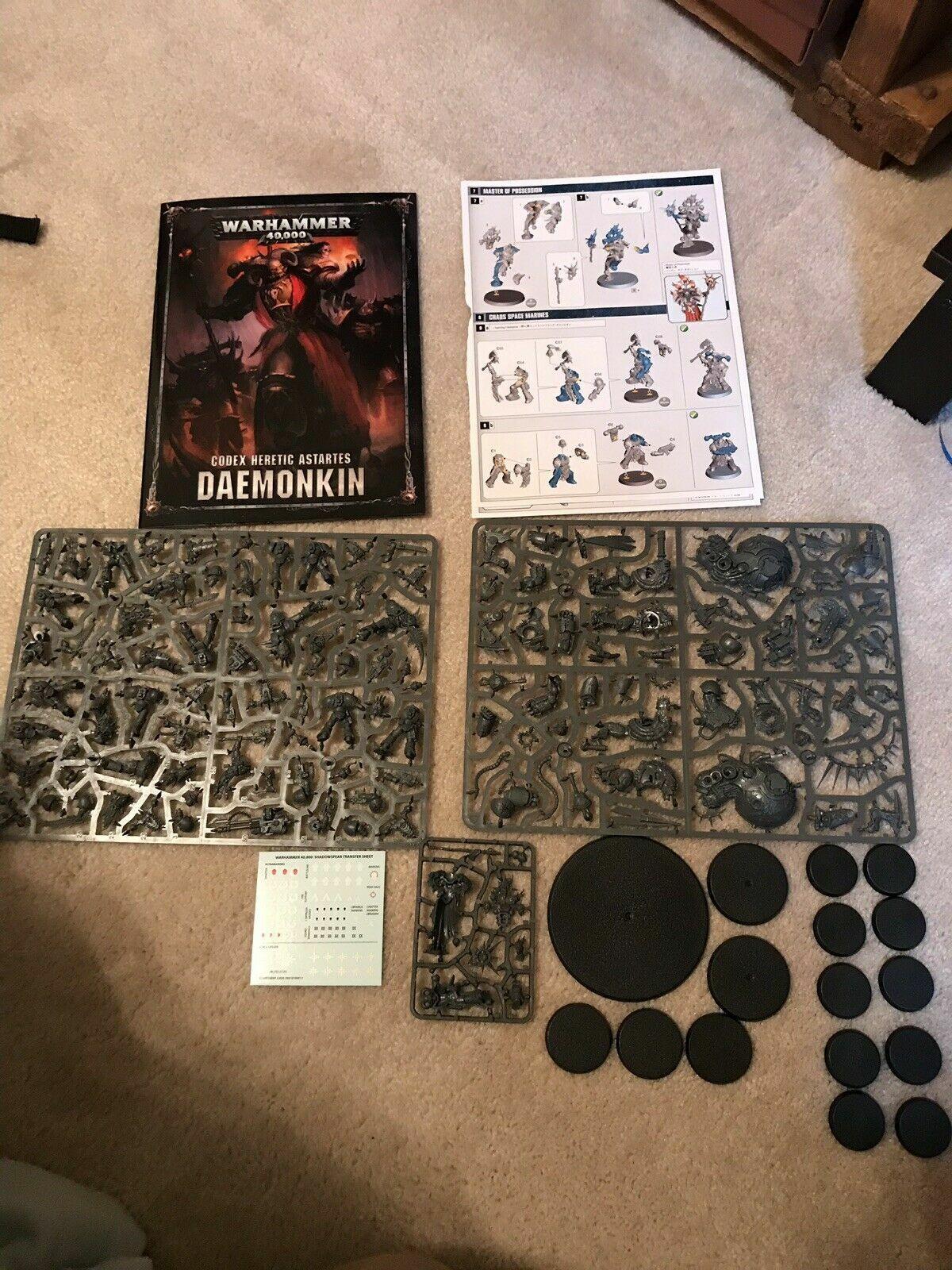 servicio honesto Ejército MARINES ESPACIALES DEL CAOS 40K Daemonkin Shadowspear media media media Warhammer hereje  producto de calidad