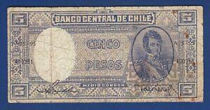 5 Pesos Cinco Pesos Banco Central De Chile Banknotes Ebay