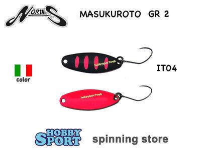 MASUKUROTO NORIES 2,0 GR ITALIAN COLOR IT16 COPPER SPOON AREA TROUT SPINNING