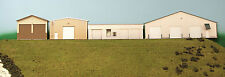 HO Scale 4 Steel Buildings Background Building Flat