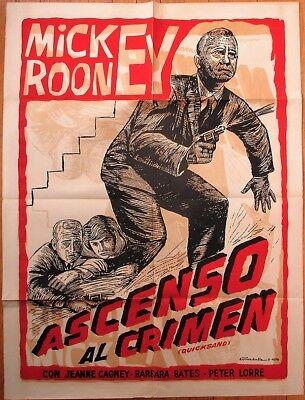 Mickey Rooney Quicksand 1950 Film Noir Crime Movie Poster 'ascenso Al Crimen' Products Hot Sale
