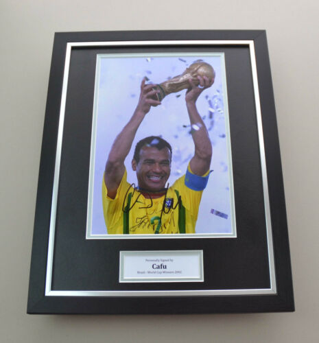 Cafu Signed Photo Framed 16x12 Brazil 2002 Autograph Memorabilia Display + COA