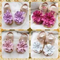 I58 Fashion Flowers Baby Girls Princess Baby Toddler Sandals Flat Kids Shoes UK