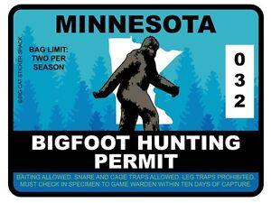 Bigfoot-Hunting-Permit-MINNESOTA-Bumper-Sticker