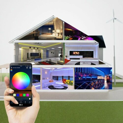 nexlux WiFi Music 5m 15m 20m 3528 rgb led strip waterproof tape light power set