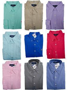 NEW-Men-POLO-Ralph-Lauren-Button-Down-Shirt-Size-S-M-L-XL-XXL-CLASSIC-FIT