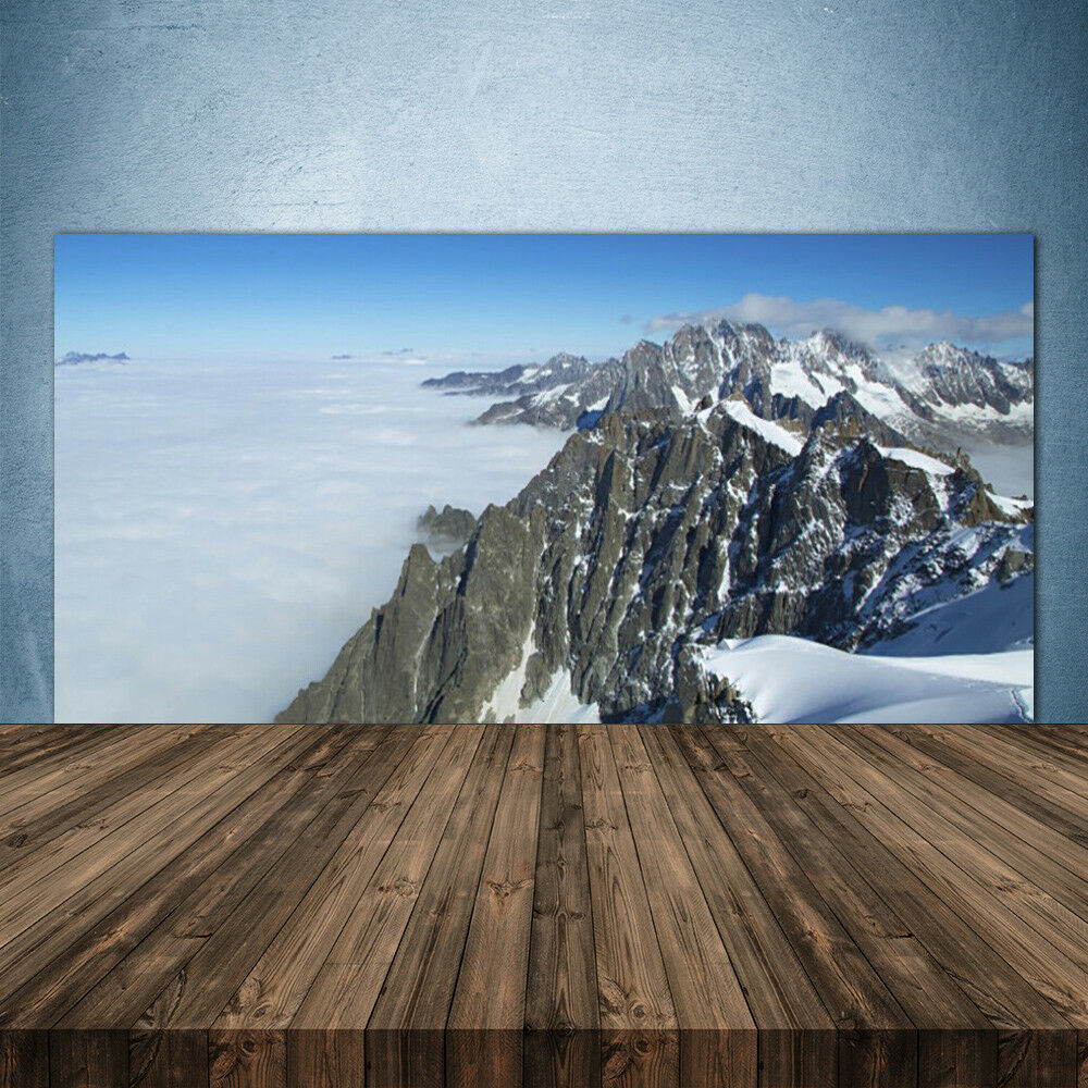 Crédence de cuisine en verre Panneau 140x70 Paysage Montagne Brouillard