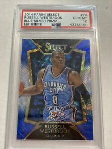 2014 Select Russell Westbrook Blue/Silver prizm PSA 10! Lakers! POP 3!