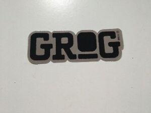 GROG-STICKER-GRAFFITI-INK-10x3-5cm-STREET-ART-Pegatina-METALIC-BLACK
