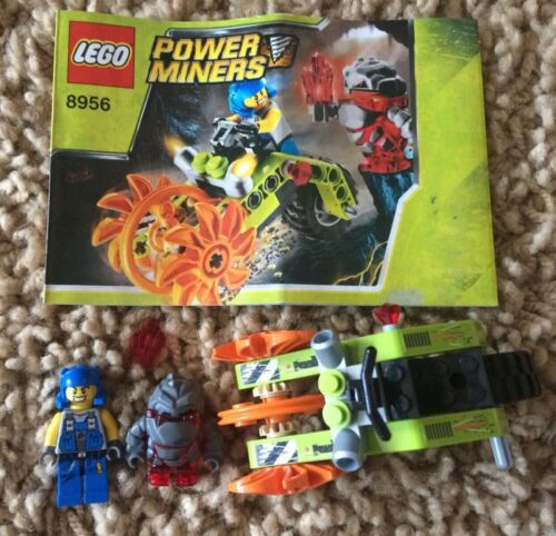 Lego 8956 Power Miners Stone Chopper Meltrox Minifig Manual 100/% Set 2009 No Box