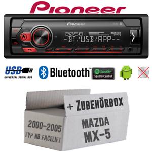 Pioneer autoradio para mazda mx-5 mx5 NB Bluetooth Spotify USB Android Kit de integracion