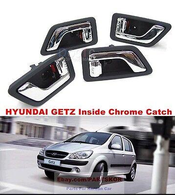 2005 ~ Hyundai Getz Click Door Inside Chrome Handle Assy LH RH 4pcs Genuine OEM