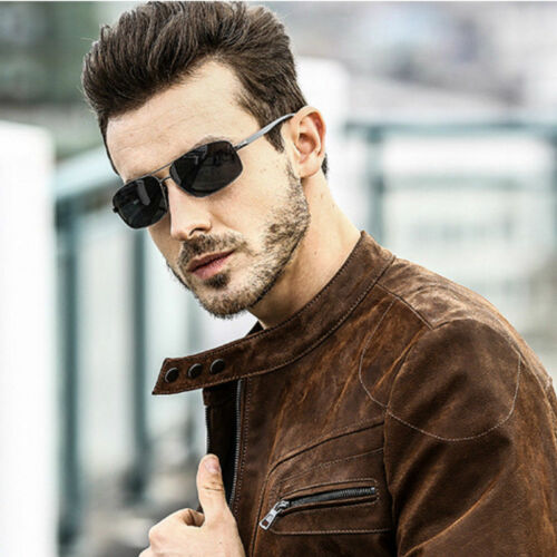 HD Aluminium Polarized Photochromic Sunglasses Mens Pilot Chameleon Lens Glasses