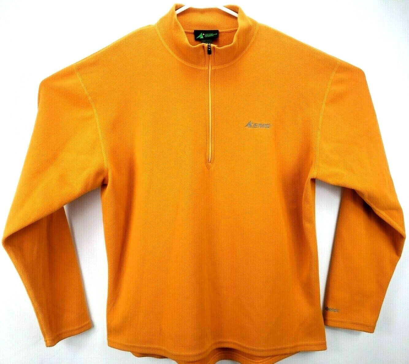 EMS Eastern Mountain Sports Men Pullover Jacket L L/S 1/4 Zip Dark Yellow Thermo