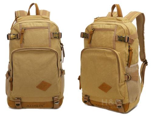 Men/'s Canvas Military Tactical Backpack Camping Trekking School Hiking Bag