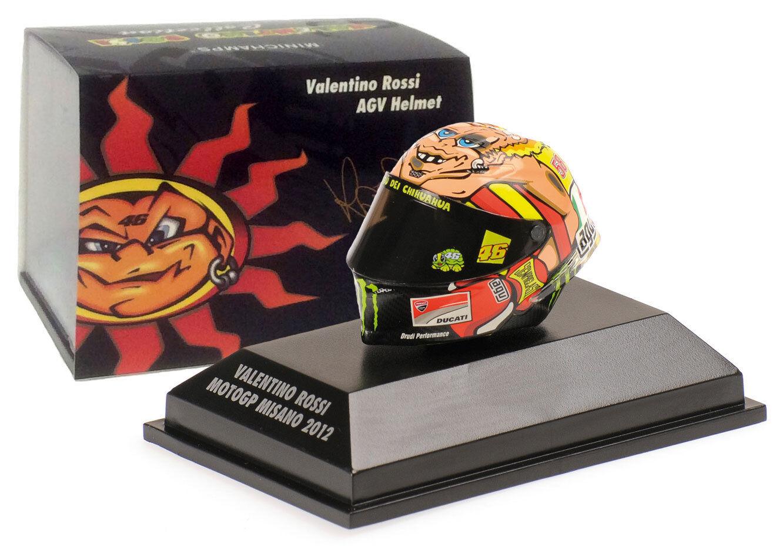 Minichamps valentino rossi casque motogp misano 2012 1 8 scale