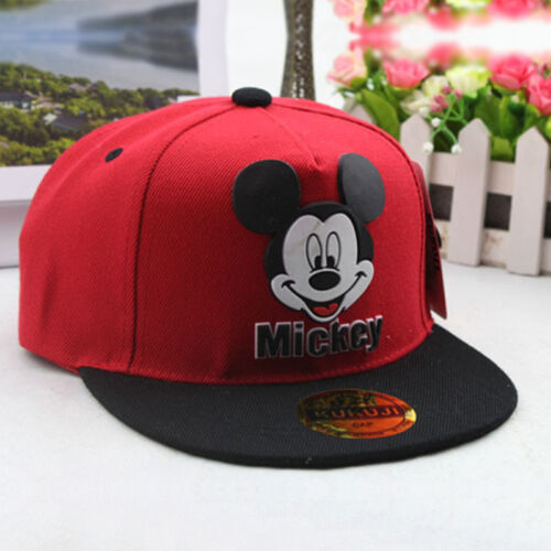 Kid Boy Girl Mickey Mouse Baseball Cap Adjustable Outdoor Sport Snapback Hats UK