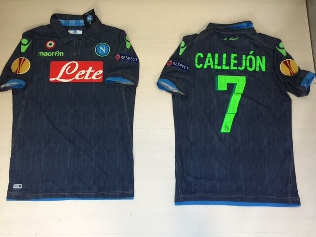 NAPOLI CALLEJON EUROPA LEAGUE RESPECT MATCH ISSUE SHIRT JERSEY MAGLIA MAGLIETTA