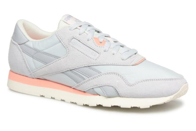 Reebok ® Classic Nylon Size 8 UK Retro LT GR Suede Mens Trainers CN3664 NEW