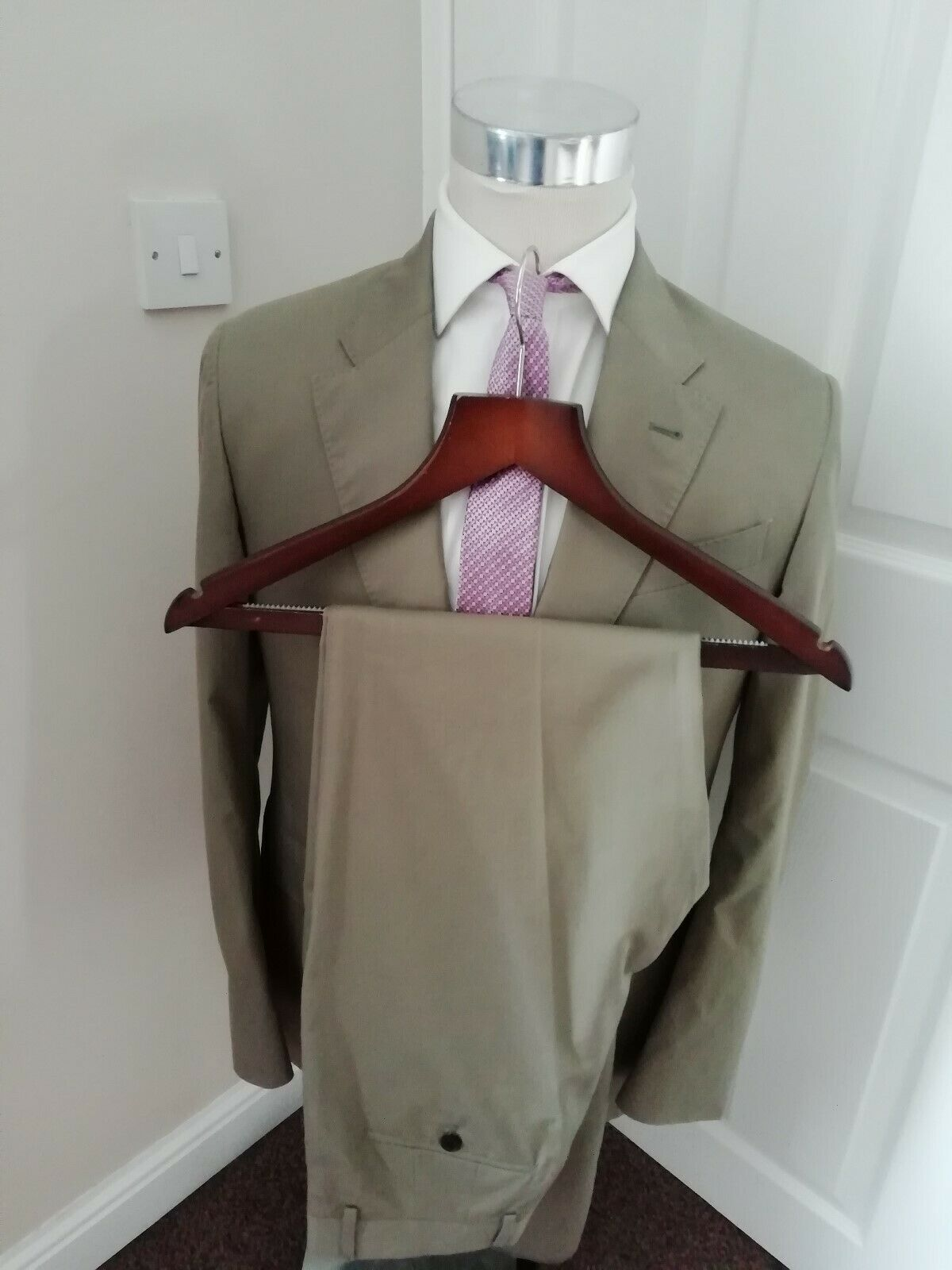 PAUL SMITH COTTON SUIT 38 R NEW   BNWT MADE IN ITALY BEIGE SUMMER SUIT