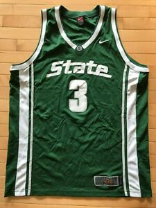 brand new b5749 7d813 Details about Michigan State Spartans MSU Nike Basketball Jersey Nike Elite  Mens Sz 2XL Loyer